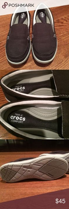 Norlin Slip-on Men, Homme Sneakers, Gris (Charcoal/White), 41-42 EUCrocs