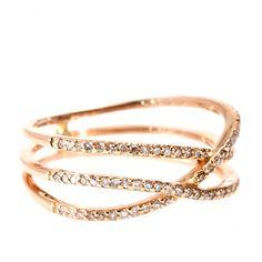 Ring Triple Row Eternity Aus 14kt RosÉgold Mit Weissen Diamanten ∇ Jacquie Aiche ♦ mytheresa