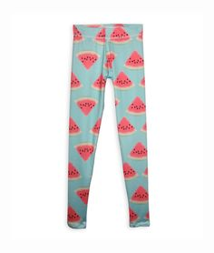Girls Watermelon Printed Leggings