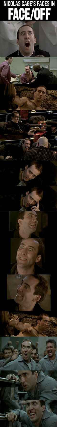 Nicolas Cage's faces are priceless… also the movie is awesome