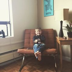 Barcelona Chair, Van, Couch, Kids, Furniture, Home Decor, Young Children, Settee, Boys
