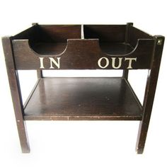 "In and Out Office Filing Desk - I'd label the bottom area ""No Idea Yet""."