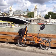 Riding around Paris on my Brompton... by Keiron*, via Flickr