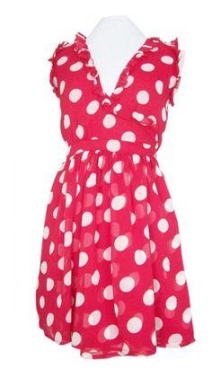 Red Hot Polka Dot Ruffle Wrap Dress ♡ Totally cute!!