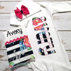 b34b45bdad94 Items similar to Girl Coming Home Outfit Baby Gown Bow - Baby Girl Bring  Home Outfit - Newborn Sleeper With Bow - Baby Name Gown - Baby Shower Gift  for Girl ...