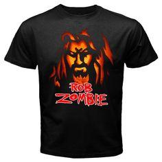 Custom new rob zombie black t shirt size S M L XL XXL XXXL tee Free shipping, $23.99