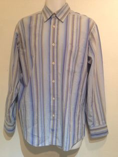 Bugatchi Uomo Mens Teardrop Long Sleeve Dress Shirt Size L #BugatchiUomo