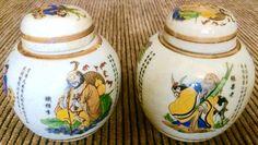 Vintage Chinese Porcelain Ginger Jar (8178) (Pair)