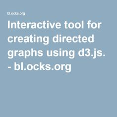 Interactive tool for creating directed graphs using d3.js. - bl.ocks.org