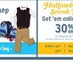 30% off, plus Sneak Peak at Halloween