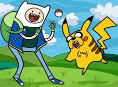 how to draw pokemon finn and jake