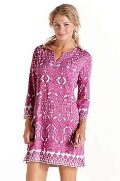 ZnO Oceanside Tunic Dress: Sun Protective Clothing - Coolibar $89