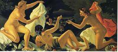 'der überraschung', öl auf leinwand von André Derain (1880-1954, France)