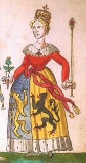Mary of Guelders (1434 - 1463)  Queen consort of Scotland (James II) 16th GGMother Her mother was Catherine of Cleves, so she was GGAunt to Anne of Cleves