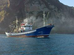 A typical fishing ship