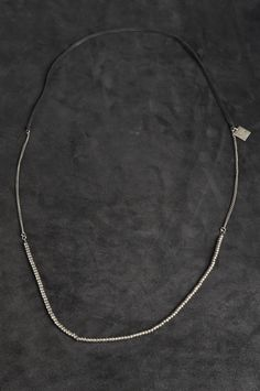 Goti - necklace 020 - sterling silver & leather