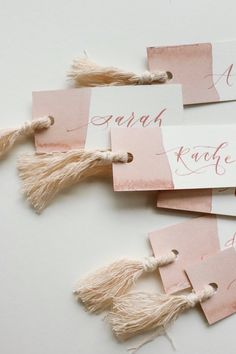 Place Cards with Tassel,Paper Name Cards, Wedding Place Cards, Baby Shower Place Cards, Calligraphy Name Cards Wedding Table Name Cards, Wedding Cake Table Decorations, Wedding Name, Wedding Places, Name Place Cards, Birthday Gifts For Best Friend, Wedding Stationary, Paper Cards, Bridal Shower