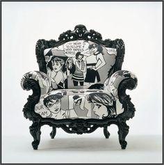 Happy Hour Armchair In Roy Lichtenstein Fabric