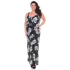 Feminine in floral, this maxi dress from Stanzino is sure to get noticed. The lightweight style includes a sweetheart neckline and a sleeveless cut.