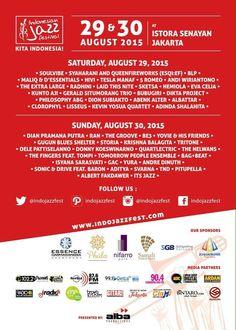 Indonesian Jazz Festival, 29 & 30 August 2015
