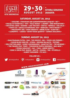 Indonesian Jazz Festival, 29 & 30 August 2015