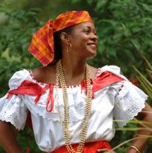 "Traditional costumes and jewellery are among the items produced on Martinique, look for bijoux creole (local jewelry) such as hoop earrings and heavy bead necklaces.																 									Elegant local women wear locally-made jewelry that is steeped in history, such as the ""Collier chou"" (multi-strand beaded necklace), the ""chaîne forçat"" (cable necklace), broaches and earrings."