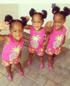 Beautiful triplet girls ~ These sisters are too precious