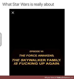 Star Wars in a anutshell