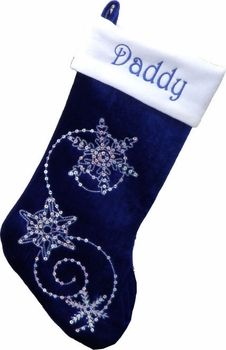 "19"" Royal Blue Personalized Stockings Bling"