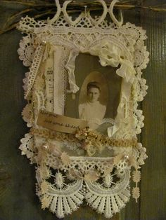 memory collage of antique lace