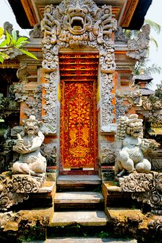 "Bali | A Hindu temple ...My comment, ""No need for a ""no soliciting"" sign here!"" Go away beeatch!"