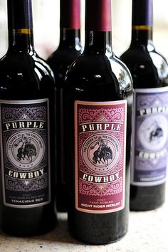 purple cowboy wine