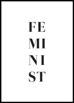 In black and white, split down the poster, this one word unlocks a sea of emotion. Find inspiration for your wall decor and look for more modern minimalist art prints and posters at Opposite Wall. Feminist Af, Feminist Quotes, Black & White Quotes, Black And White Posters, Black And White Prints, Image Citation, Intersectional Feminism, Typography Prints, Minimalist Art