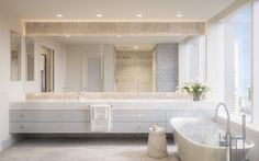 Four Seasons Private Residences at 706 Mission Bathroom San Francisco Luxury Real Estate San Francisco Design, Open Concept Kitchen, Hotels And Resorts, Luxury Hotels, Floor Patterns, Four Seasons Hotel, Estate Homes, Master Bathroom, Living Spaces