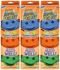 """""""The Scrub Daddy scrubs every tough stain. They're dishwasher safe and indestructible."""""""