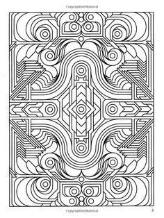 Difficult Geometric Design Coloring Pages | Deco Tech Geometric ...