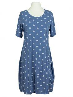 Damen Kleid Baumwolljersey, blau von RESTART bei www.meinkleidchen.de