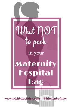 So much advice out there on what you need in your maternity hospital bag. I'm here to tell you the stuff you should leave at home! It's a bit tongue in cheek but good for a giggle!