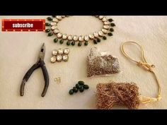 (हिन्दी मे)Tutorial/Beautiful kundan necklace making/DIY Party wear necklace making.... - YouTube