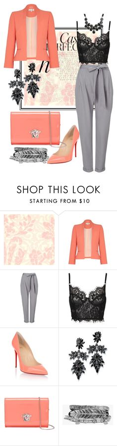"""""""Untitled #40"""" by mizzura ❤ liked on Polyvore featuring Designers Guild, Whiteley, Damsel in a Dress, Phase Eight, Christian Louboutin, Fallon, Versace, Boohoo and Torrid"""