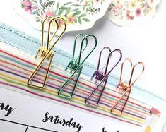 Planner Paper Clips Spring Wire Metallic Binder Accessories x 5