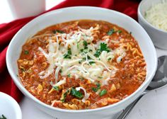 Personalized Graduation Gifts - Ideas To Pick Low Cost Graduation Offers If You Are Looking For Easy Comforting Soup For Winter, Try This Lasagna Soup. It's Crazy Easy And Made In One Pot. Can Also Be Cooked In A Slow Cooker Best Soup Recipes, Pasta Recipes, Crockpot Recipes, Dinner Recipes, Cooking Recipes, Healthy Recipes, Favorite Recipes, Clean Eating, Healthy Eating