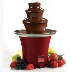 Mini Chocolate Fountain In Red