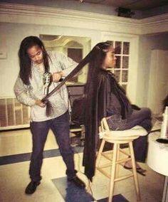 Natural hair blow out.. long hair