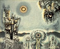Sultry moon Artwork by Charles Burchfield Hand-painted and Art Prints on canvas for sale,you can custom the size and frame