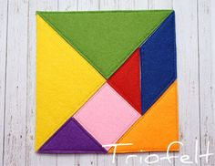 Felt tangram busy bag Montessori game Felt Puzzle