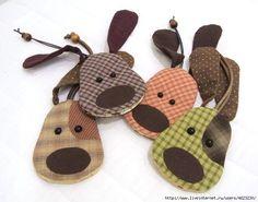 Собаки. Игрушки из фетра