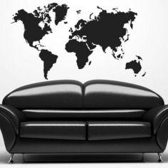 Pochoir pour peindre carte du monde 75x120cm (119x)