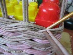 Поделка изделие День рождения Декупаж Плетение Продолжение детской темы Картон Салфетки Трубочки бумажные фото 10
