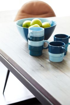 Blauw servies #decoratie #inspiratie #decoration